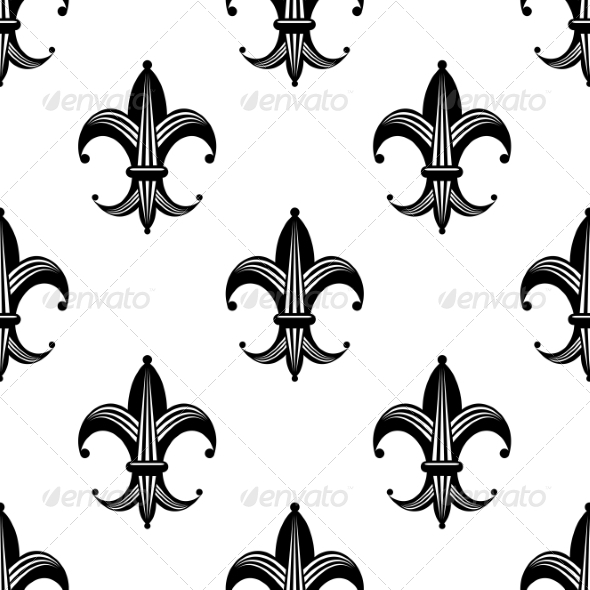 GraphicRiver Seamless Stylized Fleur de Lys Pattern 7735151