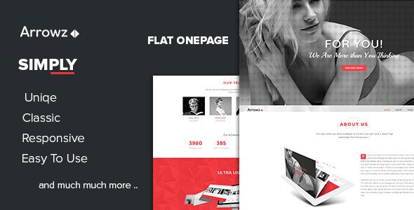 ThemeForest Arrowz Flat One Page Parallax Theme 7735159