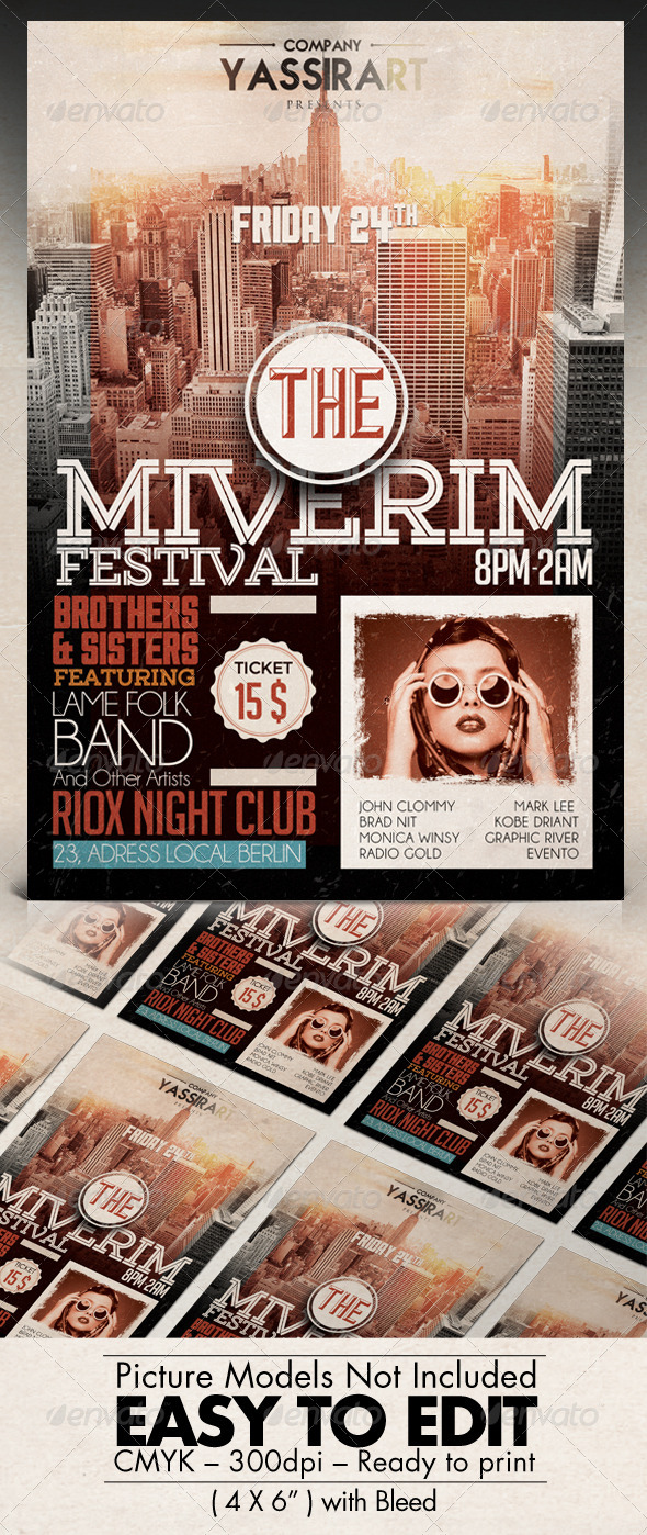 GraphicRiver Jazz Festival Flyer Template 7735185
