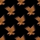 Seamless Pattern of a Stylized Flying Eagle - GraphicRiver Item for Sale