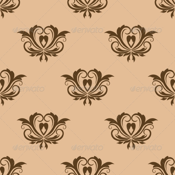GraphicRiver Beige and Brown Seamless Pattern 7736264
