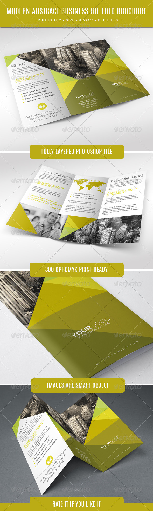 GraphicRiver Modern abstract business trifold 7736266