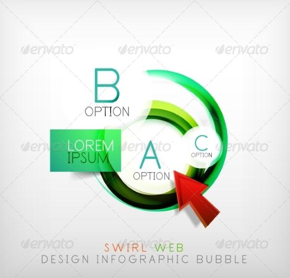 GraphicRiver Swirl Web Design Infographic Bubble Flat Concept 7736441