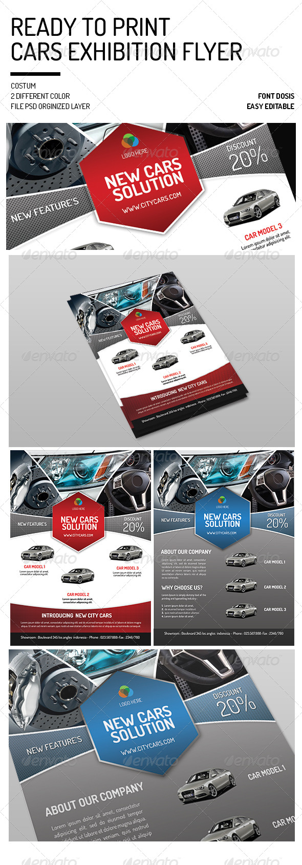 GraphicRiver Cars Exhibition Flyer 7688087