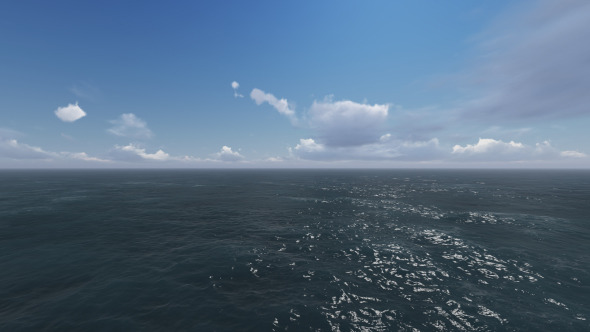 Fly Over Sea