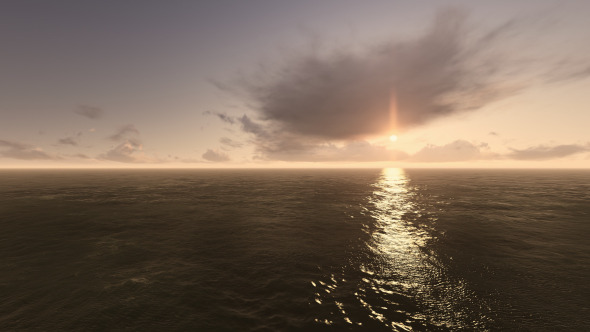 Fly Over Sea During Sunset
