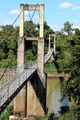suspension bridge over river in rainforest - PhotoDune Item for Sale