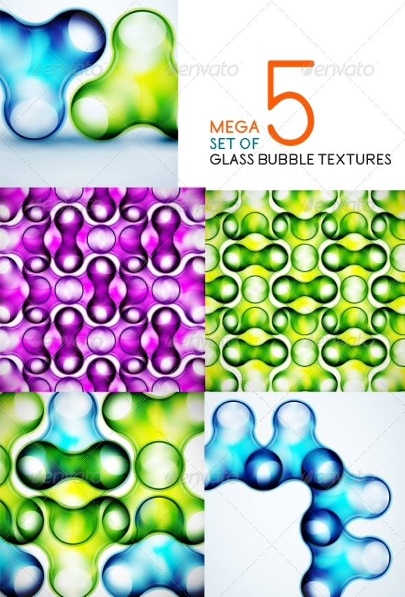 GraphicRiver Bubble glass textures vector design collection 7736661