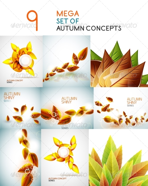 GraphicRiver Vector Autumn Leaves Design Collection 7736698
