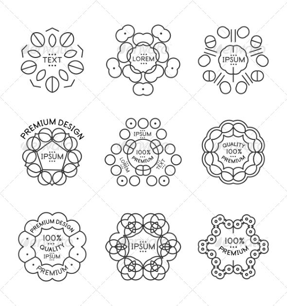 GraphicRiver Vintage Label Minimal Line Art Design 7736746