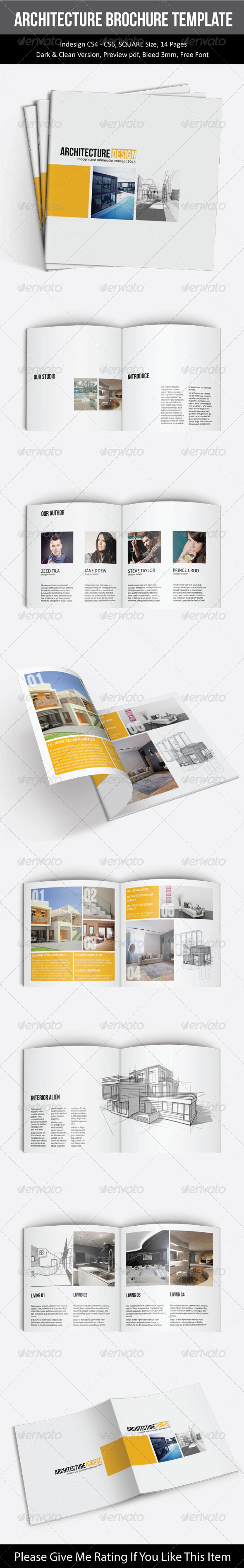 GraphicRiver SQUARE ARCHITECTURE BROCHURE TEMPLATE 7704898