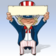 Uncle Sam - Holding Up a Sign  - GraphicRiver Item for Sale