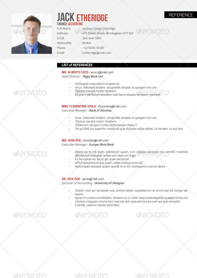 preview image set professional cv