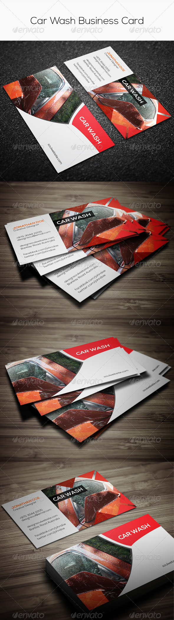 GraphicRiver Car Wash Business Card 7737869