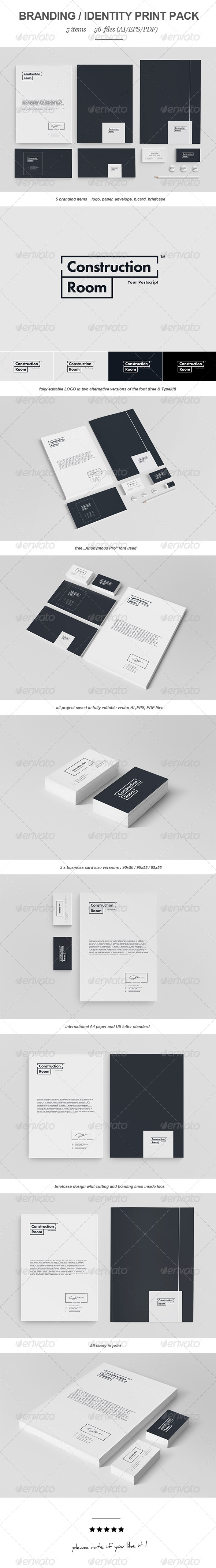 Construction Room Branding Print Pack