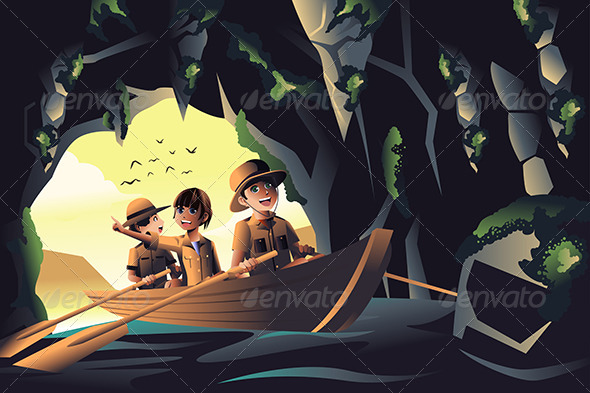 GraphicRiver Kids on an Adventure Trip 7737893