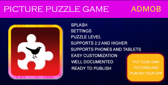CodeCanyon PICTURE PUZZLE GAME 7738059