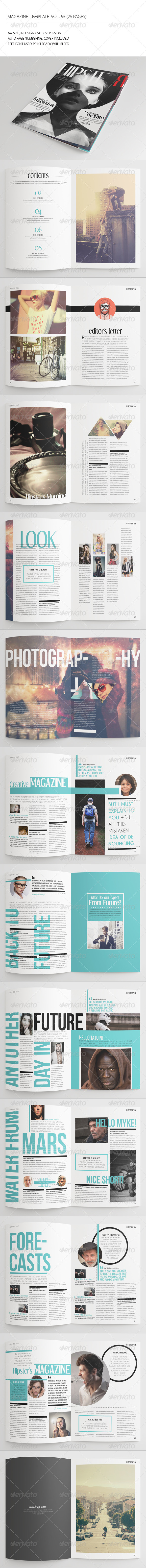 GraphicRiver 25 Pages Hipster Magazine Vol55 7738074