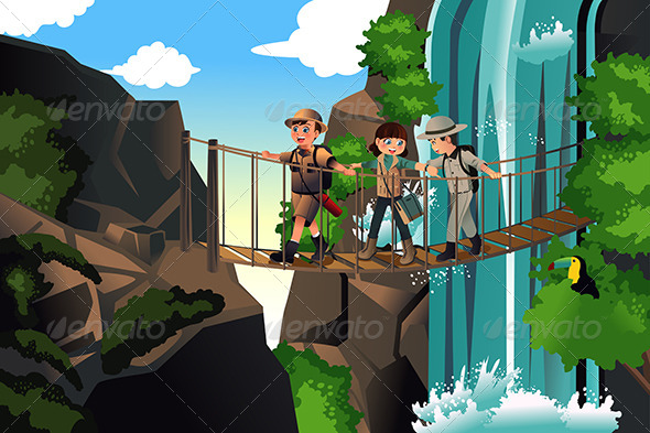 GraphicRiver Kids on an Adventure Trip 7738100