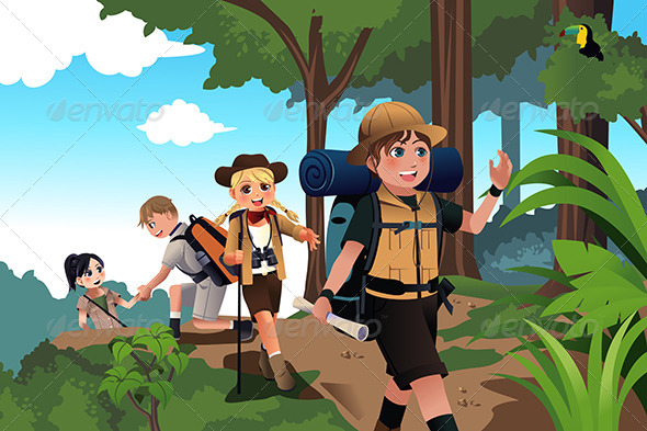 GraphicRiver Kids on an Adventure Trip 7738113