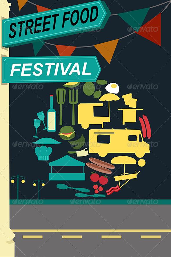 GraphicRiver Street Food Festival Pamphlet 7738116