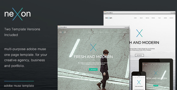 ThemeForest Nexon One Page Parallax Multi-Purpose Template 7615027