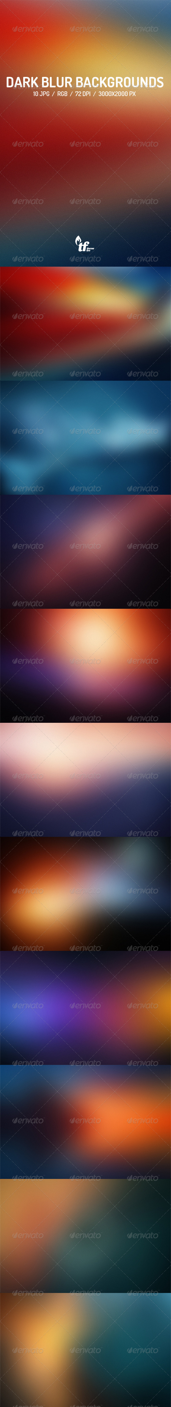 GraphicRiver Dark Blurred Backgrounds 7738390