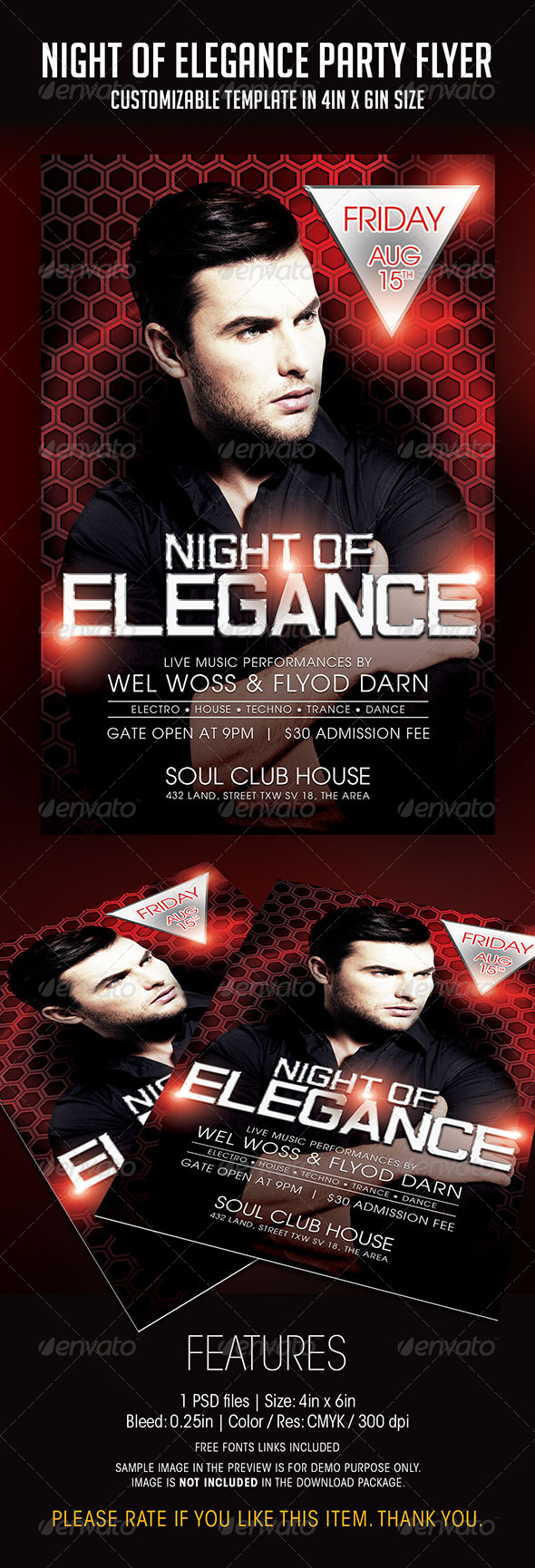 GraphicRiver Night of Elegance Party Flyer 7738415