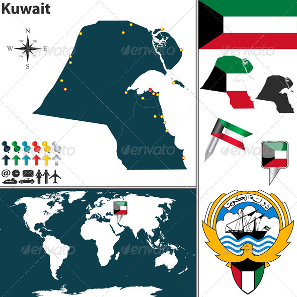 GraphicRiver Map of Kuwait 7738462