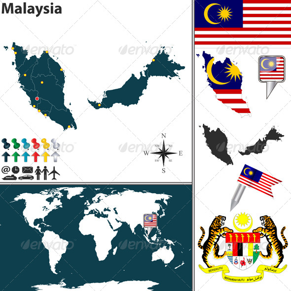 GraphicRiver Map of Malaysia 7738479