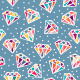 Set of Seamless Patterns with Diamonds - GraphicRiver Item for Sale