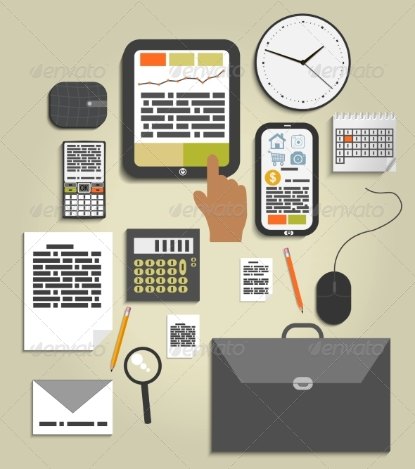 GraphicRiver Office and Business Work Elements 7738573
