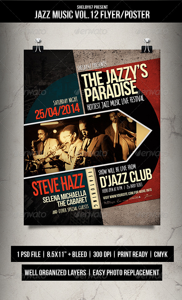 GraphicRiver Jazz Music Flyer Poster Vol.12 7738625