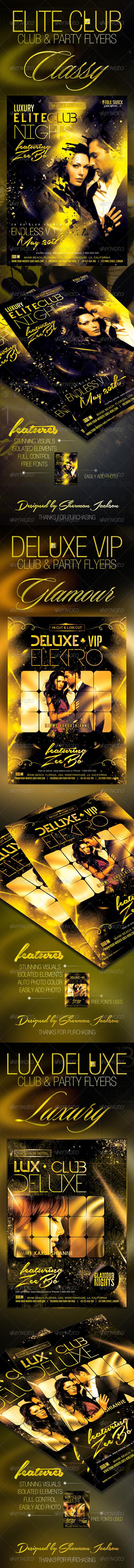 GraphicRiver Luxury VIP Flyer Club Bundle 7738799