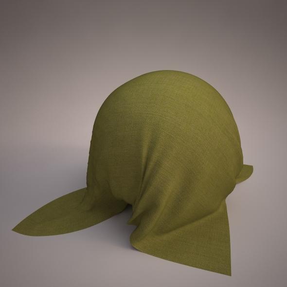 3DOcean Vray fabric Kvadrat remix green tileable 7739223