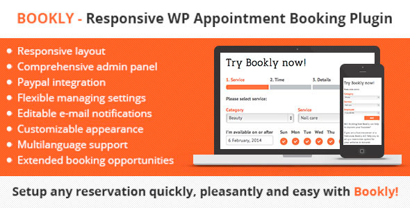 Bookly Plugin – is a great easy-to-use and easy-to-manage booking tool for Service providers who think about their customers. Plugin supports wide range o