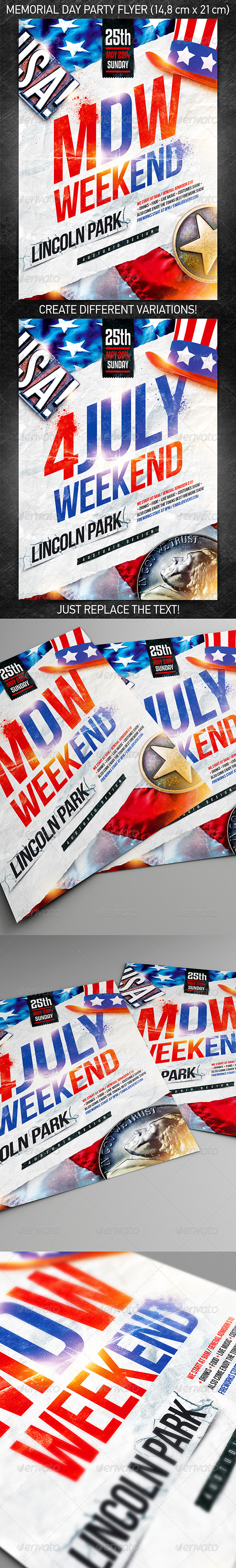 GraphicRiver Memorial day weekend party flyer vol.2 7739250