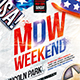 Memorial day weekend party flyer vol.2 - GraphicRiver Item for Sale