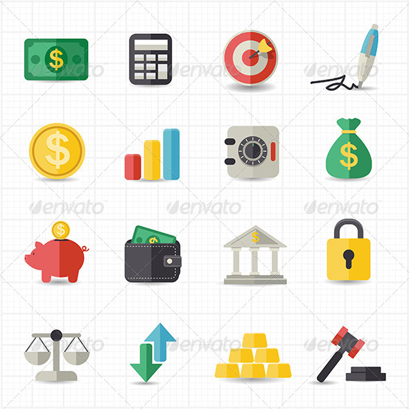 GraphicRiver Business Finance Money Icons 7739277