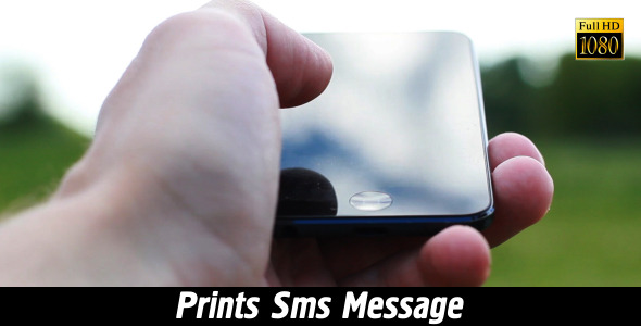Prints SMS Message 5