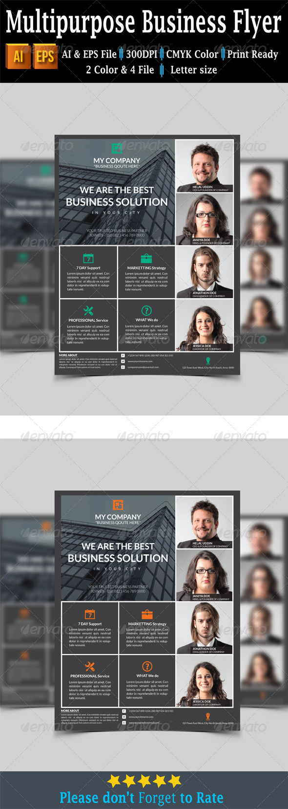GraphicRiver Multipurpose Business Flyer 7739453