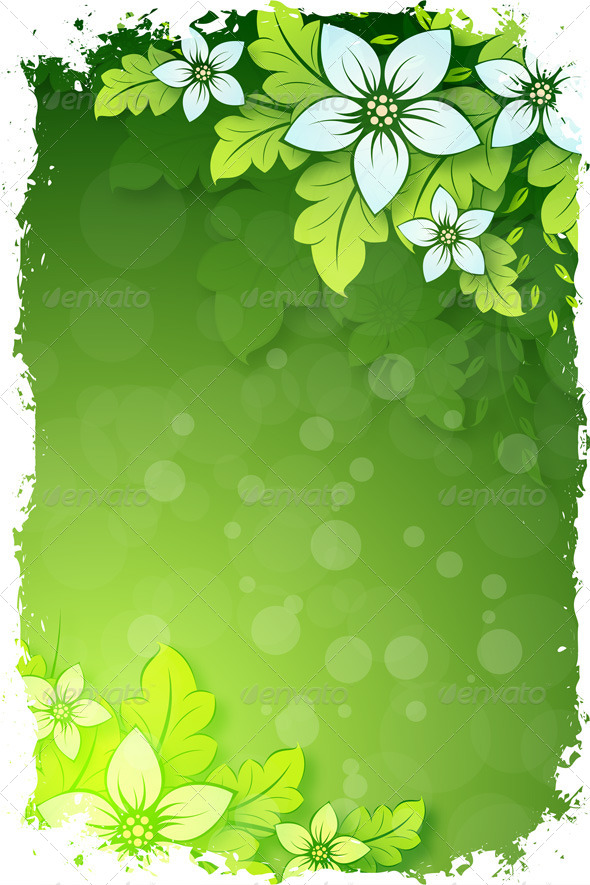 GraphicRiver Grungy Floral Background 7739589