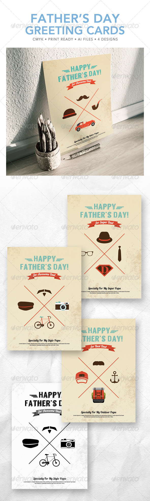 GraphicRiver Father s Day Greeting Card 7739603