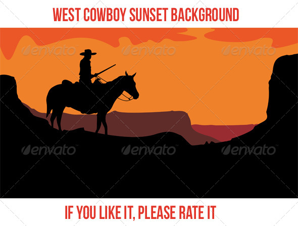 GraphicRiver West Cowboy Sunset 3 7739639