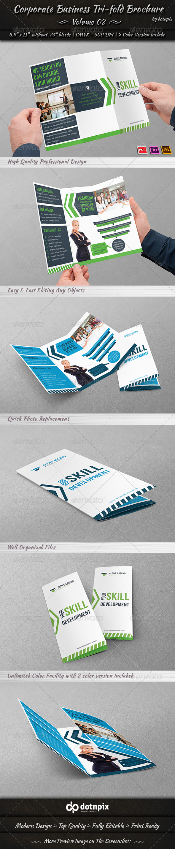 Corporate Business Tri-Fold Brochure Volume 2