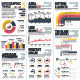 Red and Yellow Infographic Elements Set 5 Vector - GraphicRiver Item for Sale