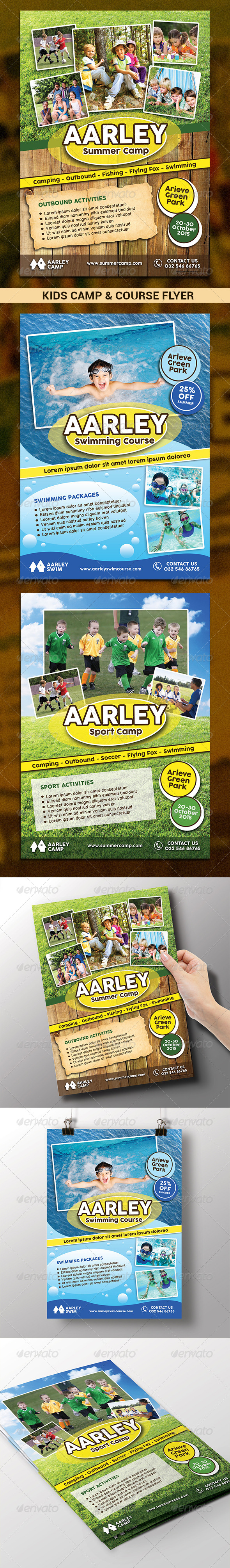 GraphicRiver Kids Camp & Course Flyer 7739656