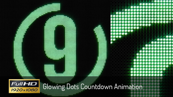 Glowing Dots Countdown Animation