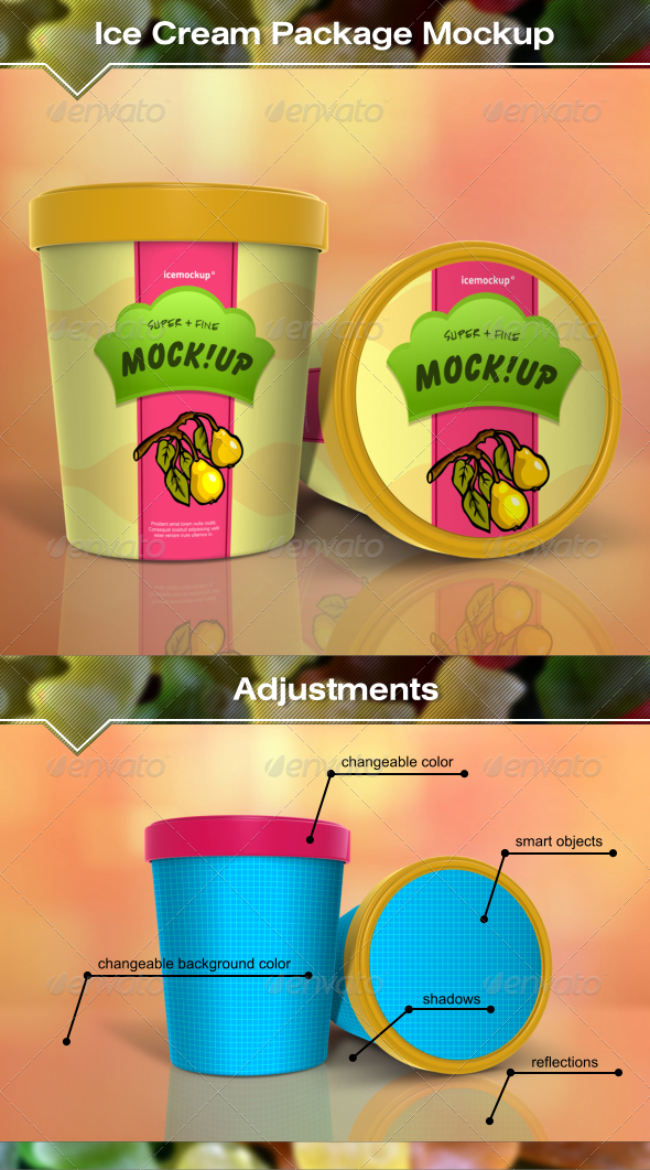 GraphicRiver Ice Cream Package Mockup 7739804