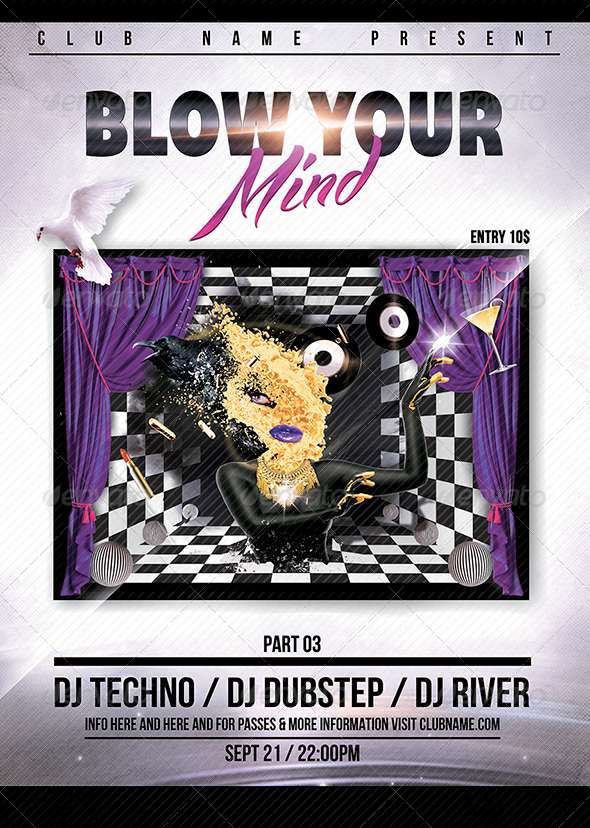 GraphicRiver Blow Your Mind Flyer Poster 02 7739808